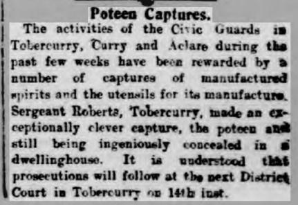 1926 Poteen Captures