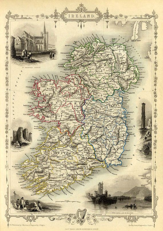 Ancient Map Of Ireland.When Maps Were Maps Before Google Street View Where S Merrill