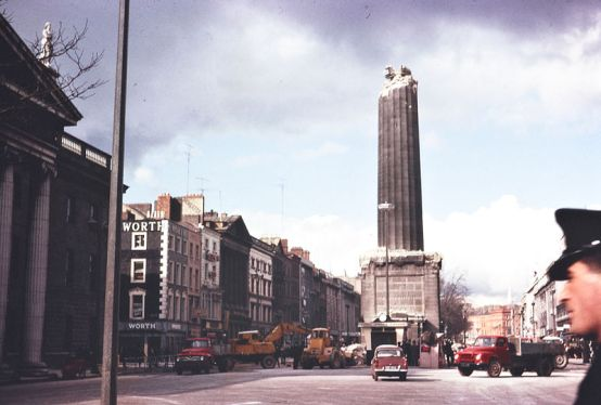 1966 March - Nelson's Pillar, O'Connell St, Dublin