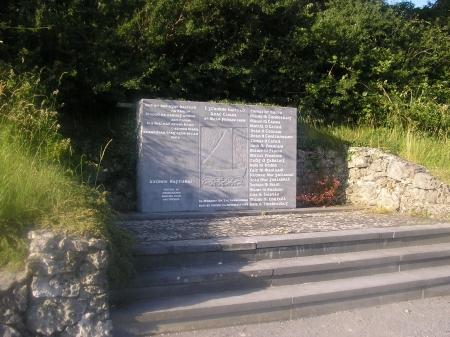 Annaghdown Pier memorial